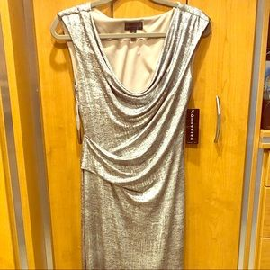 Silver/champagne evening gown new sz6